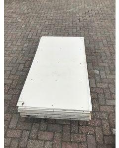 Trespa / HPL Plaat (Wit) 166 x 90 cm - Dikte: 6 mm.
