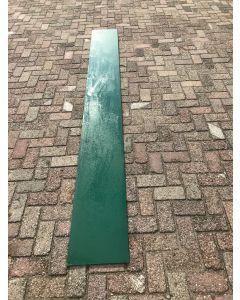 HPL / Trespa Plaat (Groen) ±305 x 35 cm - Dikte: 8 mm.