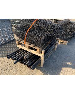 Gaas hekwerk met Bovenbuis en Paal, 1m H 150 strekkende meter