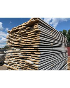 Sloophouten Plank 10 x 2 cm (Wit) | Lengte: ± 220 cm