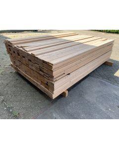 Vurenhouten Plank 9,5 x 1,8 cm | Lengte: ±220 cm