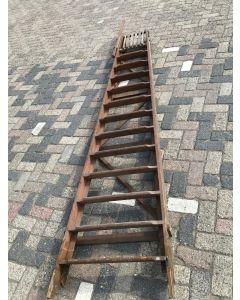 Houten Oploopbare Trap (Hoogte: 234 cm)