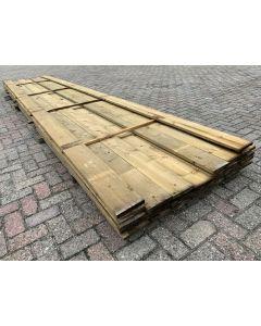 Geïmpregneerde planken 15,5x2,2 cm - Lengte ±540 cm