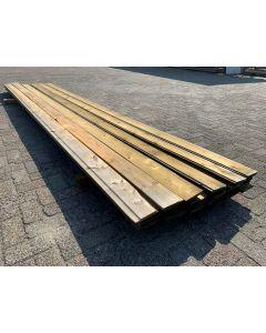 Geïmpregneerde Plank 12,5x1,6 cm | Lengte: ±450 cm
