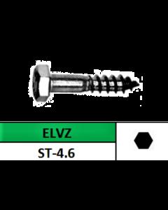 Houtdraadbout Zeskant 8x80MM (50st)