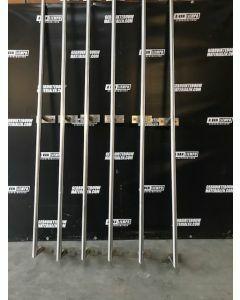 RVS Trapleuning Met Bevestigingshouders, 300 cm lang